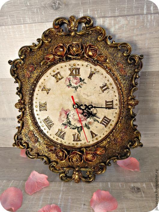 Часы для дома ручной работы. Ярмарка Мастеров - ручная работа. Купить Часы ,,Розы,, часы настенные. Handmade. Часы