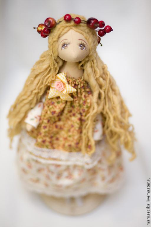 Куклы тыквоголовки ручной работы. Ярмарка Мастеров - ручная работа. Купить Осенний ангел. Handmade. Ангел, авторская ручная работа