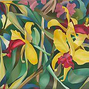 """Картины и панно ручной работы. Ярмарка Мастеров - ручная работа """"Орхидеи"""" картина маслом 50х60. Handmade."""