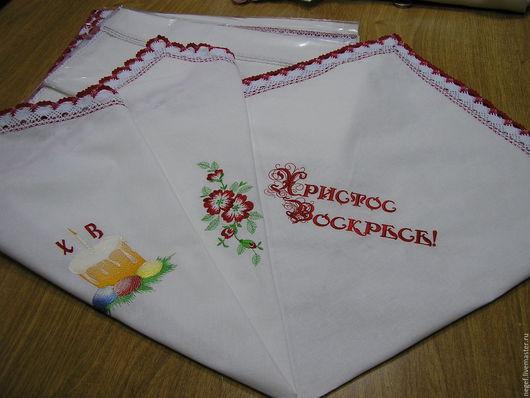 Текстиль, ковры ручной работы. Ярмарка Мастеров - ручная работа. Купить платок для кулича. Handmade. Белый, Пасха, пасхальный декор