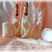 """Свадебный салон ручной работы. Ярмарка Мастеров - ручная работа Свадебный набор """"Каллы"""". Handmade."""