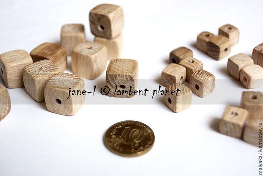 Бусинки-кубики из ДУБА 10*10мм и 15*15мм.  БЕЗ ПОКРЫТИЯ, без лака, без краски.  Дуб-Куб-10 = 4 руб/шт. Дуб-Куб-15 = 7 руб/шт.  Дуб-Куб-10 = 4 руб/шт. Дуб-Куб-15 = 7 руб/шт.
