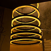 Для дома и интерьера ручной работы. Ярмарка Мастеров - ручная работа Люстра из 9 колец. Handmade.