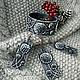 Комплекты украшений ручной работы. Ярмарка Мастеров - ручная работа. Купить Комплект из браслета,кулона и серег Снежность. Handmade. Кулон