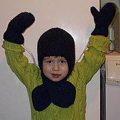 Работы для детей, ручной работы. Ярмарка Мастеров - ручная работа Шапка-шлем и К. Handmade.