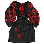 "Одежда handmade. Livemaster - original item Dress with embroidery ""Earthly Love"". Handmade."
