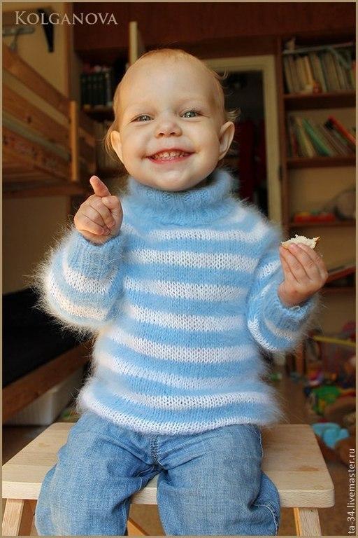 """Одежда для мальчиков, ручной работы. Ярмарка Мастеров - ручная работа. Купить Cвитерок """"Морячок"""". Handmade. Голубой, для малыша"""