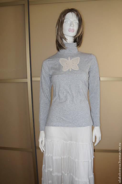 Кофты и свитера ручной работы. Ярмарка Мастеров - ручная работа. Купить Водолазка серая р.44-46. Handmade. Серый