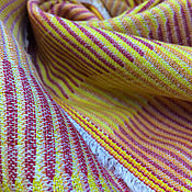 handmade. Livemaster - original item Fabric with sunny stripes from Tuscany, linen cotton, Italy. Handmade.