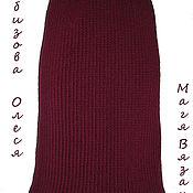 """Одежда ручной работы. Ярмарка Мастеров - ручная работа Вязаная юбка крючком в деловом стиле """"Темная вишня"""". Handmade."""