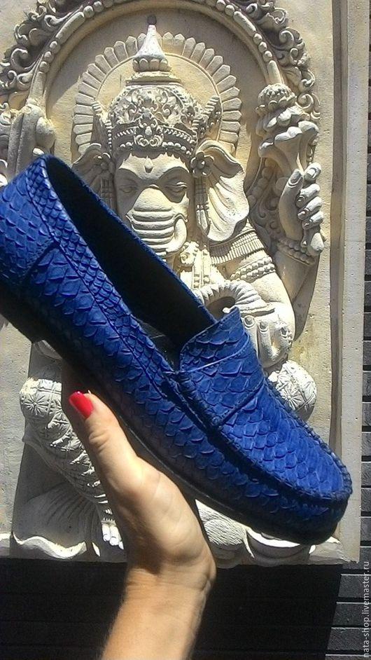 Обувь ручной работы. Ярмарка Мастеров - ручная работа. Купить Мокасины Джинс. Handmade. Тёмно-синий, мокасины женские