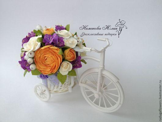 Интерьерные композиции ручной работы. Ярмарка Мастеров - ручная работа. Купить Велосипед с цветами Оригинальный подарок. Handmade. подарок подруге