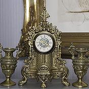 Винтаж ручной работы. Ярмарка Мастеров - ручная работа Часы каминные Людовик ХIV антикварные бронза стиль. Handmade.