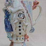"""Посуда ручной работы. Ярмарка Мастеров - ручная работа Бокал фарфоровый """"Куклы"""". Handmade."""