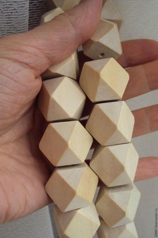 Для украшений ручной работы. Ярмарка Мастеров - ручная работа. Купить Дерево. Резной куб 20мм.. Handmade. Белый, кубики