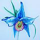"""Броши ручной работы. Ярмарка Мастеров - ручная работа. Купить Брошь """" Голубая орхидея"""". Handmade. Голубой, брошь цветок"""