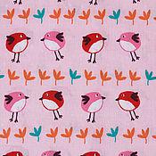 Материалы для творчества ручной работы. Ярмарка Мастеров - ручная работа Ткань Хлопок Птички Франция. Handmade.