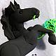 Подвески ручной работы. Подвеска на монитор Жеребенок черный, бархатный пластик, лошадь, конь. LaSSSka. Интернет-магазин Ярмарка Мастеров.