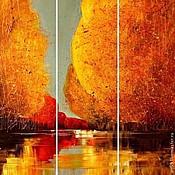 """Картины и панно handmade. Livemaster - original item Триптих """" Золотая осень"""". Handmade."""