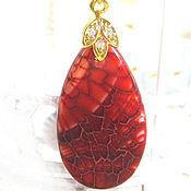 Украшения handmade. Livemaster - original item Elegant pendant made of bright fiery agate. Handmade.