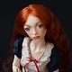 Коллекционные куклы ручной работы. Ярмарка Мастеров - ручная работа. Купить Элина, шарнирная кукла. Handmade. Оранжевый, шарнирные куклы