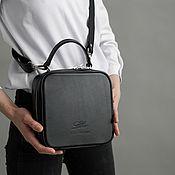 Сумки и аксессуары handmade. Livemaster - original item Black leather shoulder bag, cross body bag genuine leather. Handmade.