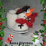 Работы для детей, ручной работы. Ярмарка Мастеров - ручная работа Пинетки-снеговички. Handmade.