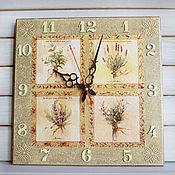 Для дома и интерьера ручной работы. Ярмарка Мастеров - ручная работа часы настенные Травы Прованса. Handmade.