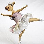Куклы и игрушки handmade. Livemaster - original item Pig ballerina.. Handmade.