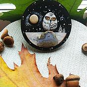 Магниты ручной работы. Ярмарка Мастеров - ручная работа Полярная сова. Handmade.