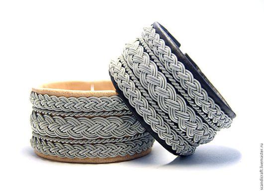 Браслеты ручной работы. Ярмарка Мастеров - ручная работа. Купить Широкий кожаный скандинавский браслет, мужской женский кожаный браслет. Handmade.