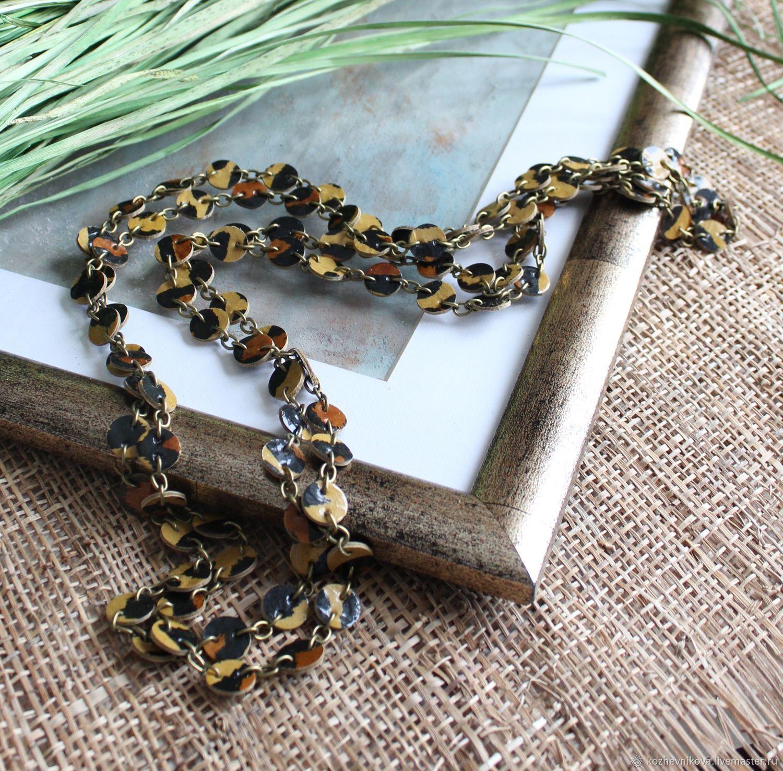 Long leather beads Hunter, Necklace, Nizhnij Tagil,  Фото №1