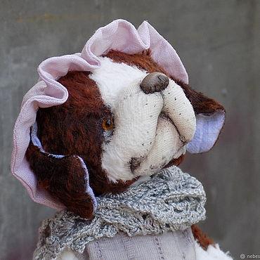 Куклы и игрушки ручной работы. Ярмарка Мастеров - ручная работа Нянюшка Нэна, собака сенбернар Тедди. Handmade.