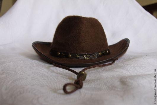 Шляпы ручной работы. Ярмарка Мастеров - ручная работа. Купить Ковбойская шляпа. Handmade. Коричневый, Ковбой, карнавальный костюм