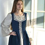 Одежда handmade. Livemaster - original item Dress Medieval blue, ethno boho middle ages. Handmade.