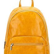 Сумки и аксессуары handmade. Livemaster - original item Leather backpack Violetta (yellow). Handmade.