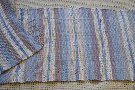 Текстиль, ковры ручной работы. Ярмарка Мастеров - ручная работа. Купить Половик ручного ткачества (№ 89). Handmade. Голубой