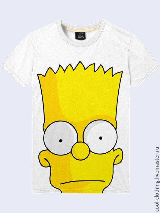 """Футболки, майки ручной работы. Ярмарка Мастеров - ручная работа. Купить Мужская футболка """"Барт Симпсон"""". Handmade. Рисунок, футболка"""