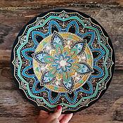 Посуда handmade. Livemaster - original item Blue decorative plate. Gift plate hand painted. Handmade.
