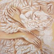 Картины и панно handmade. Livemaster - original item Cozy hugs. Handmade.