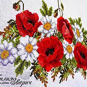 """Свадебный салон ручной работы. Ярмарка Мастеров - ручная работа Свадебный рушник """"Полевые цветы"""". Handmade."""