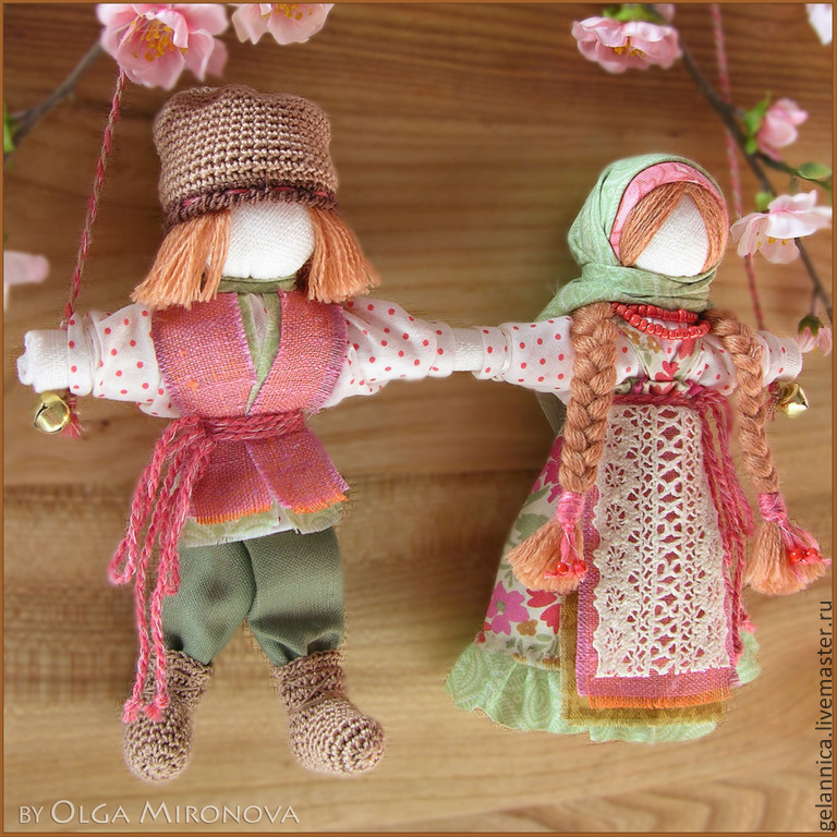 Народные куклы ручной работы. Ярмарка Мастеров - ручная работа. Купить Неразлучники. Handmade. Оберег, неразлучники, подарок на свадьбу