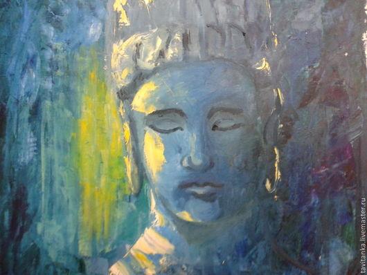 Люди, ручной работы. Ярмарка Мастеров - ручная работа. Купить Будда. Handmade. Картина маслом, картина для интерьера, краски масляные