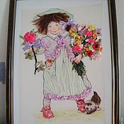 """Картины и панно ручной работы. Ярмарка Мастеров - ручная работа """"Папа привези мне аленький цветок """". Handmade."""