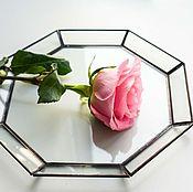 Для дома и интерьера ручной работы. Ярмарка Мастеров - ручная работа Стеклянный поднос большой. Handmade.