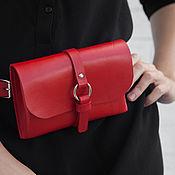 Сумки и аксессуары handmade. Livemaster - original item Waist purse/clutch Mini (red). Handmade.