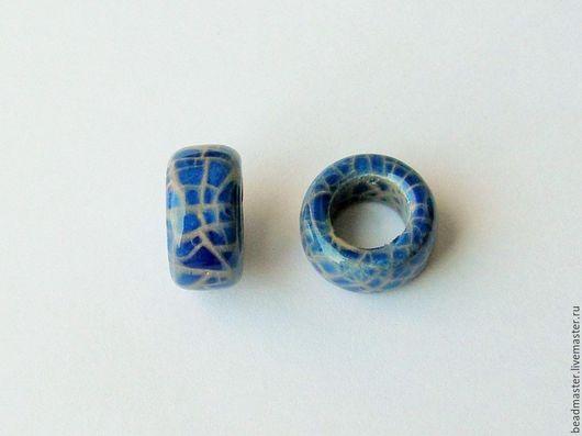 Для украшений ручной работы. Ярмарка Мастеров - ручная работа. Купить Бусина,керамическая,отверстие 10 мм,БКЖ13. Handmade.