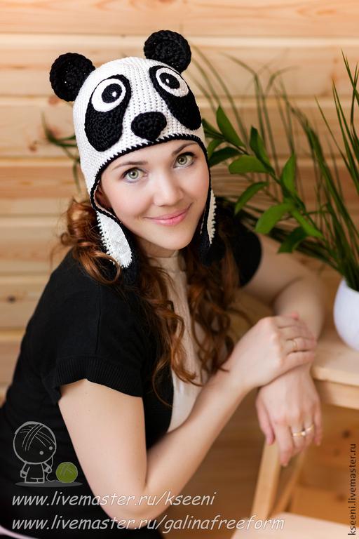 Шапки ручной работы. Ярмарка Мастеров - ручная работа. Купить Мама Панда. Handmade. Белый, мама панда, модная шапка