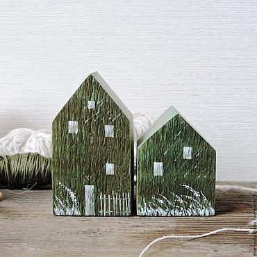 Для дома и интерьера ручной работы. Ярмарка Мастеров - ручная работа Деревянный интерьерный домик с росписью. Handmade.