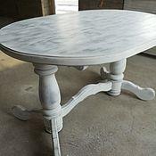 Для дома и интерьера handmade. Livemaster - original item Table of solid cedar in the style of Provence of White and gray. Handmade.